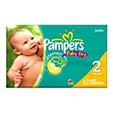 Pampers Baby Dry Diapers Size 2 (12-18 Lbs) - Pack Of 34 Diapers