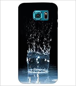 PrintDhaba Water Burst D-1263 Back Case Cover for SAMSUNG GALAXY S6 (Multi-Coloured)