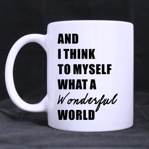 Popular What A Wonderful World Stainless Steel Travel Tea Mug/Tea Cup - 14 Oz (One Direction Lyric Mug compare prices)