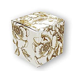 "Gold Toile - One Piece Gift Boxes (2"" x 2"" x 2"")"