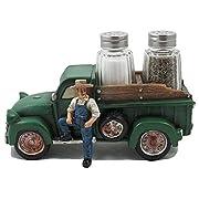 Vintage Farmer and Pickup Truck Salt and Pepper Shaker Set