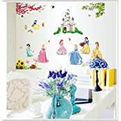 Gadfly- Castle And Snow White Peel & Stick Nursery/baby Wall Sticker Decal