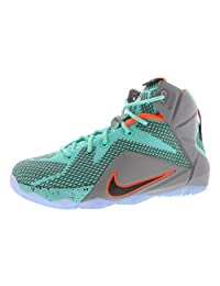 Nike LeBron XII (GS) 685181-302 Turquoise/Silver/Black Kids Basketball Shoes