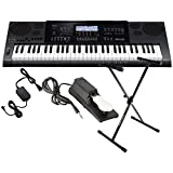 CASIO CTK 7200 61 Key Portable Keyboard w/Power Supply, Sustain Pedal, and Stand