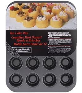 Chicago Metallic Tea Cake Pan 20 Cavity, 13.90-Inch by 10.60-Inch (2-Inch by 1.60-Inch... by CHICAGO METALLIC