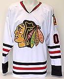 Chevy Chase Clark Griswold Blackhawks Custom Pro Style White Hockey Jersey XL
