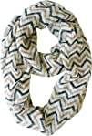 Vivian   Vincent Soft Light Weight Zig Zag Chevron Sheer