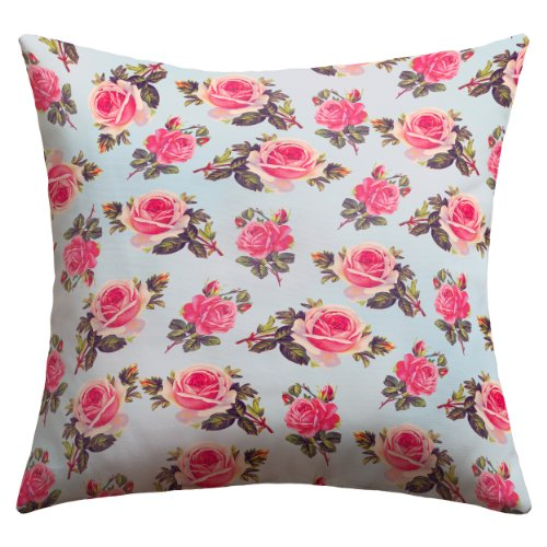 """Deny Designs Allyson Johnson """"Pink Roses"""" Outdoor Throw Pillow, 20 By 20-Inch front-88982"""