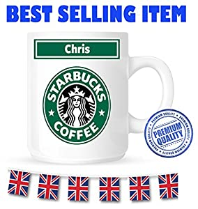 Any Name - Personalised Starbucks Coffee MUG/CUP - PERSONALISED CUSTOM - Any Name - 100% Diswasher safe - Great Birthday Christmas Or Novelty Gift