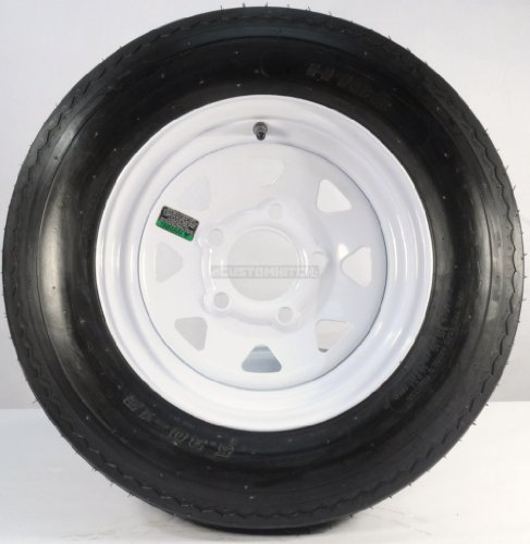 Cheap New TWO TRAILER TIRES & RIMS 5.30-12 530-12 5.30 X 12 12