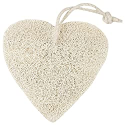PANACHE Natural Heart Loofah, Exfoliating Bathing Tool, Beauty, Bath & Shower, Bathing Accessories, Loofahs.