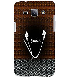 PrintDhaba Smile Design D-4486 Back Case Cover for SAMSUNG GALAXY J1 (Multi-Coloured)