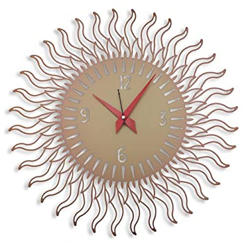 laser venue sun shaped designer wall clock - Designer Wall Clocks Online