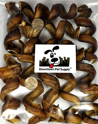 4-6 CURLY BULLY STICKS, bull bully springs - Regular Select Thick - Dog Chew Treats, by Downtown Pet Supply rosa springs 4 красная поляна