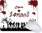 Rikki KnightTM Dyson Loves Zombies on Red Grunge Personalized with Name TanPad Ultra Thin Mouse Pad Ideal for all Laptops, Notebooks, Macbook Air, Macbook Pro