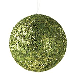 Amazon.com - Large Green Glitter Ball Christmas Styrofoam Ornament