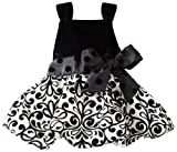 Mud Pie Baby-girls Infant Damask Party Dress, Multi-colored, 0-6 Months
