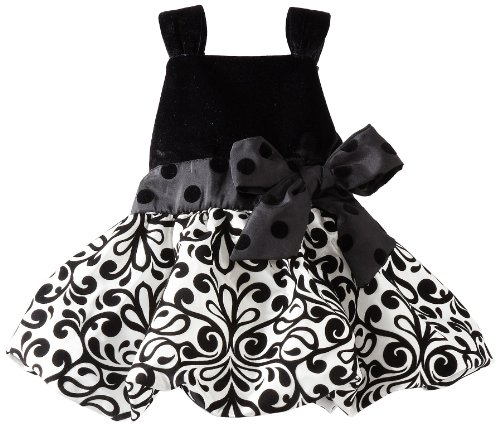 Mud Pie Baby-Girls Infant Damask Party Dress, Multi-Colored, 12-18 Months front-473667