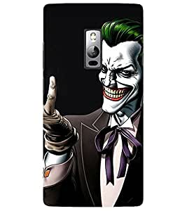 Evaluze joker why so Printed Back Cover for ONE PLUS TWO
