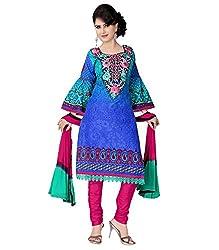 Khazana Women's Unstitched Dress Material (khazana-26-pk-77_Blue_Free Size)