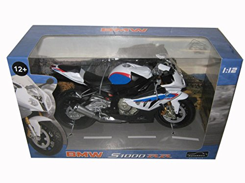 BMW S1000RR White with Blue Motorcycle Model 1/12 by Automaxx 606202 (Bmw Models compare prices)