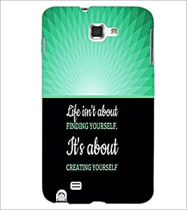 PrintDhaba Quote D-3291 Back Case Cover for SAMSUNG GALAXY NOTE 1 (Multi-Coloured)
