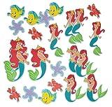 24 tlg. Set 3-D Wandtattoo / Sticker - Arielle - Moosgummi Kind für Kinder Kinderzimmer Wandsticker Meerjungfrau Aufkleber auch zum Basteln und Dekorieren