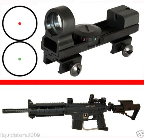 Trinity Paintball Gun Sight, Paintball Marker Sight, Aluminum 1X25 Sight For Paintball Guns, Red & Green Sight For Paintball Markers,Tippmann Paintball, Bt Paintball, Rap4 Paintball, Woodsball, Tactical Paintball, Tippmann A5, Tippmann A-5, Tippmann X7, T
