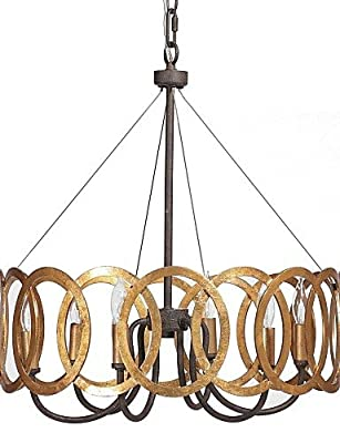 qiuxi High-end fashion Interior Ceiling lamp MAX:60W Traditional/Classic Gold Metal Chandeliers Bedroom / Dining Room / Study Room/Office / Hallway , 110-120v