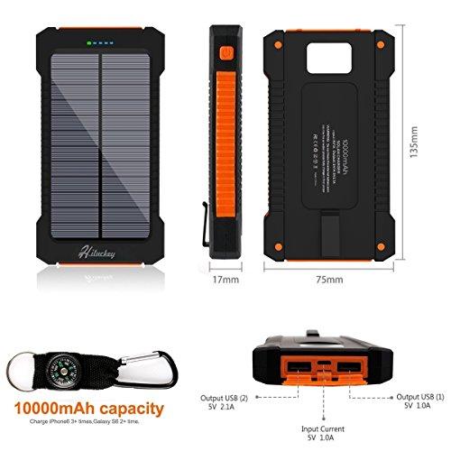 Caricabatteria-Solare-10000mAh-Hiluckey-Portatile-Caricabatteria-Solare-per-Cellulari-Impermeabile-Antiurto-Power-Bank-Banca-di-Potere-Esterno-Doppia-Porta-USB-per-iPhone-6S-6-Plus-5S-iPad-Air-Samsung