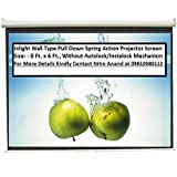 Inlight Wall Type Pull Down Spring Action Projector Screen, Size: - 8 Ft. X 6 Ft. (In Imported High Gain Fabric...