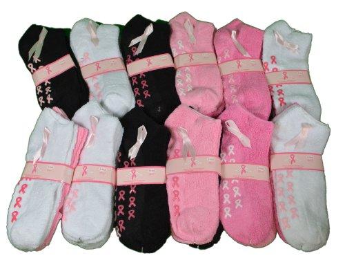 24-pairs-breast-cancer-awareness-pink-ribbon-spa-slipper-socks-9-11