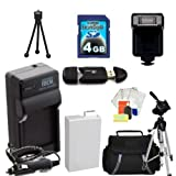 Advanced Accessory Kit for the Canon T2i 550D Slr Cameras. Kit Includes Extended Battery + Charger + Flash + 4gb Sd Card + Carrying Case + Tripod + More