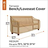Classic Accessories 58272 Terrazzo Patio Bench/Loveseat Cover, Medium