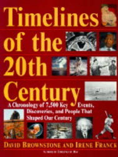 Timelines of the 20th Century: A Chronology of 7,500 Key Events, Discoveries, and People That Shaped Our Century