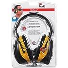 3M Earmuf Safety Headset w/Radio, Noise Reductn, LCD, BK/YW