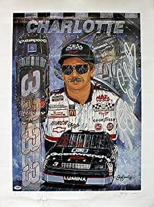 DALE EARNHARDT SIGNED AUTOGRAPHED AUTO PSADNA 18x24 POSTER NASCAR V04043 -... by Sports Memorabilia