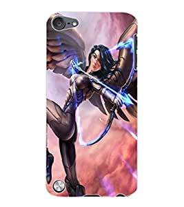ColourCraft Fatasical Warrior Design Back Case Cover for APPLE IPOD TOUCH 5