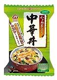 【 アマノフーズ フリーズドライ どんぶり 】 中華丼 4食 セット ( 化学調味料 無添加 )『 フリーズドライ ねぎ 5g付き 』