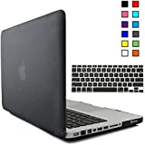 """iBenzer® - 2 in 1 Black Soft-Touch Plastic Hard Case Cover and Keyboard Cover for Macbook Pro 13 inch 13"""" A1278"""