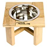 """Dynamic Accents Home Indoor Outdoor Dog Cat Food Station 6"""" Outdoor Single Feeder"""