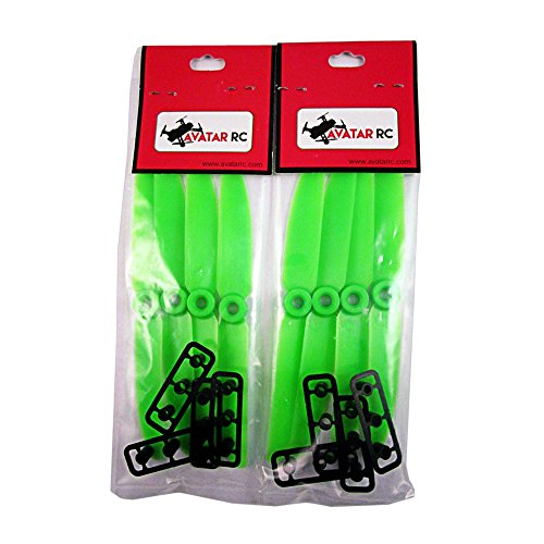 AvatarRC Geniune Gemfan 5030 (5x3) Green Propellers for 250 Size Quadcopters and Multi-rotors - Perfect for 210mm to 300mm frames (Brushed Rc Motor 12 T compare prices)