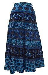 FEMEZONE Multi Color Cotton Wrap Around Skirts