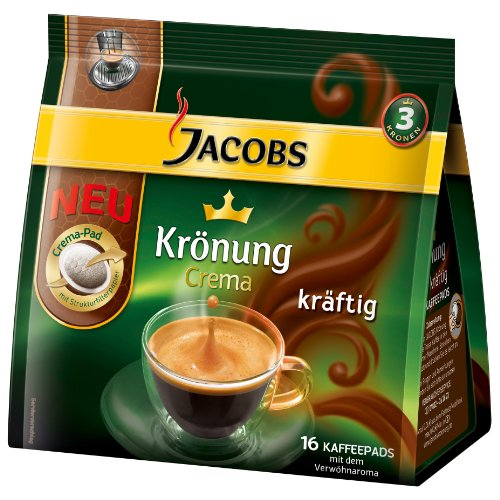 Purchase Jacobs Krönung Crema Dark, 16 Coffee Pods by Kraft Foods
