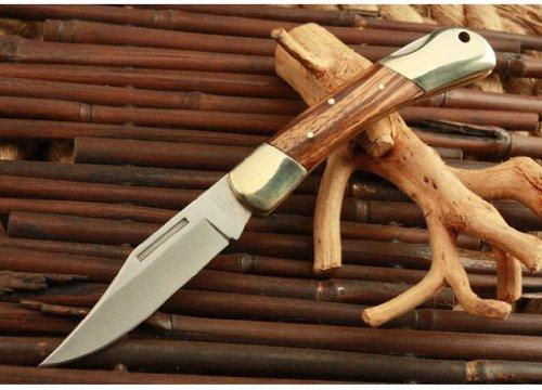 Herbertz Brass Zebra Wood Handle Pocket Folding Knife Best Survival Sharpeners Handle Blade Knife