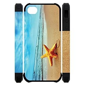 3D Starfish Running Best Custom Cell Phone Case Cover for iPhone 5, iPhone 5S