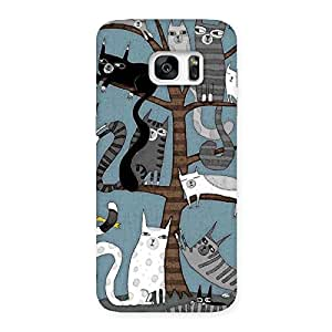 Special Cat On Trees Print Back Case Cover for Galaxy S7 Edge