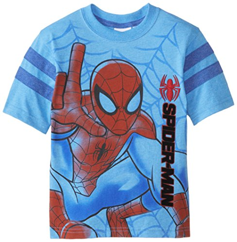 Marvel Little Boys' Spider-Man Embroidered T-Shirt