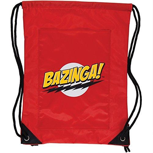 Big Bang Theory Bazinga! Red Drawstring Bag (Red) - 1
