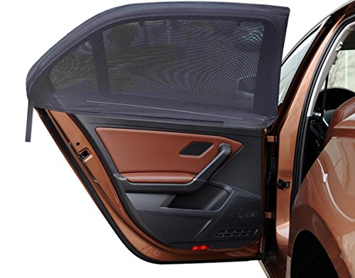 MDW 4 Pack Improved Version Adjustable Universal Fit Car Side Window Shade Baby Sun Shade,Fits Most Cars and SUVs Easy to Install (4 Contoured ) (Side Shade For Cars compare prices)